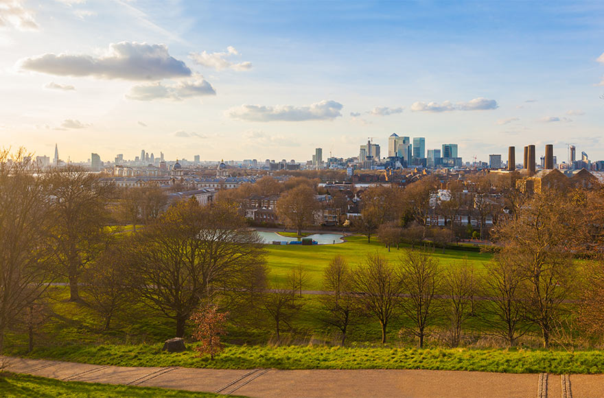 Views across Greenwich Park, London