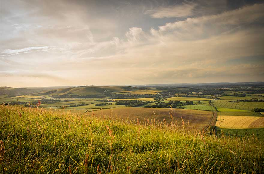 Rolling hills as far as the eye can see, South Downs, Sussex