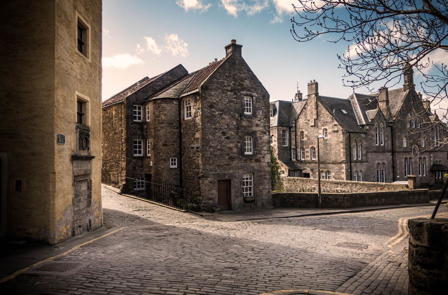 Cobbled streets of Edinburgh