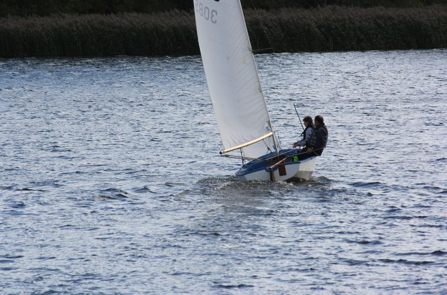 Sailing on Forfar Loch