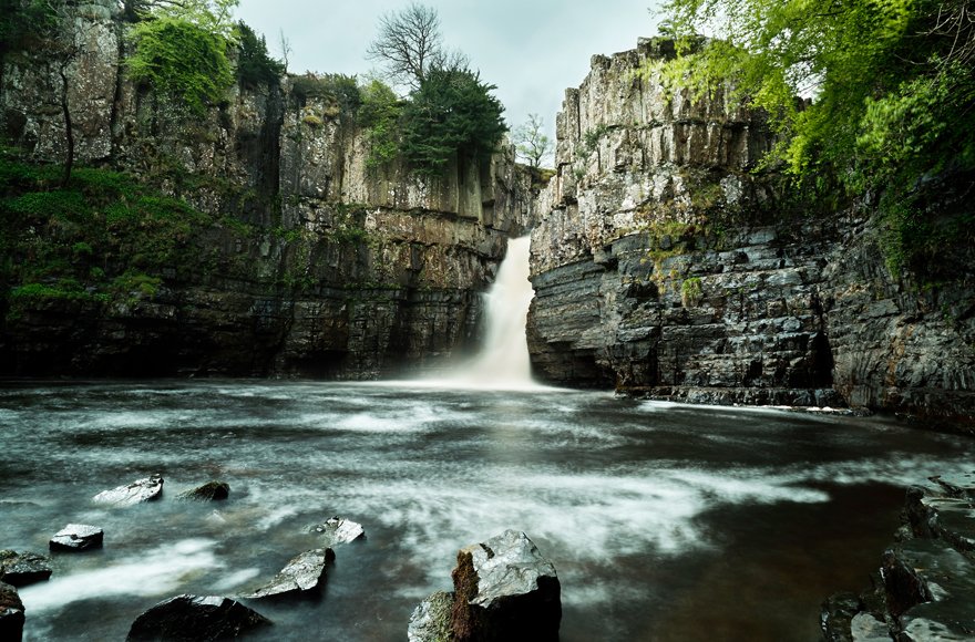High Force, one of the most spectacular waterfalls in England