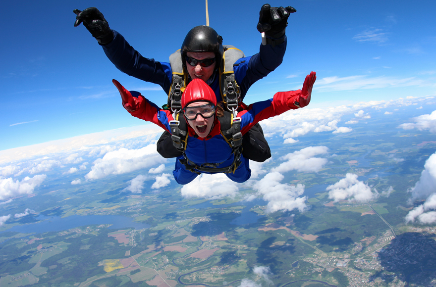 Go Skydiving and view Durham from 15,000ft