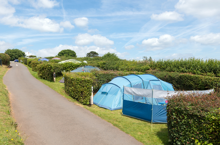 Secluded pitches at Hillhead