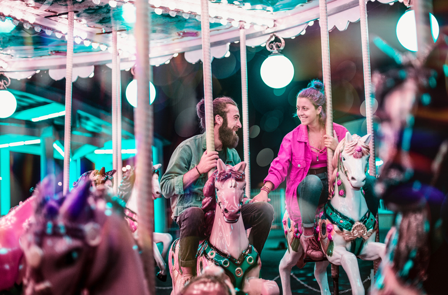 Carousel at Dingles Fairground