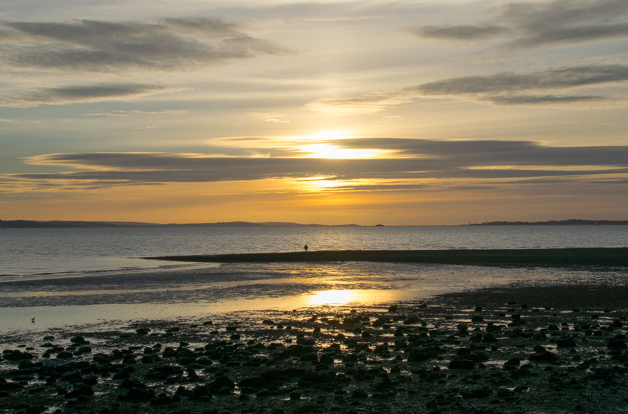 Sunset at Meon Shore