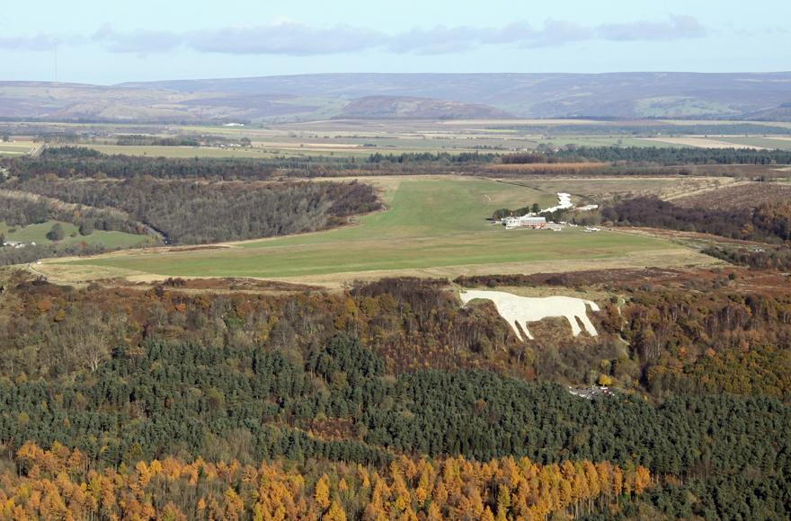 The White Horse on the hillside near Thirsk