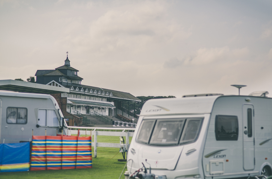 Views of Thirsk Racecourse from our campsite