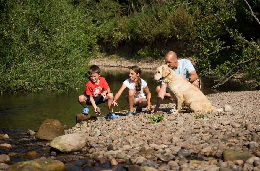 Family fun by the river Breamish