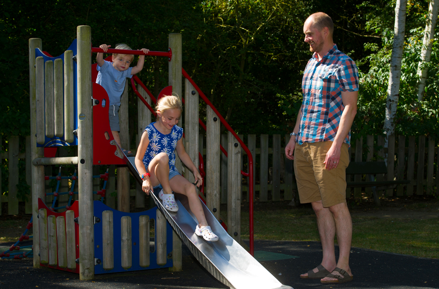 Playground fun on site