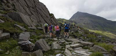 Hikers on Mt Snowdon