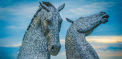 The Kelpies at the Helix
