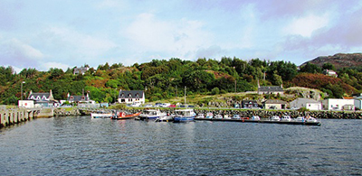 Boats stationed at the port in Gairloch