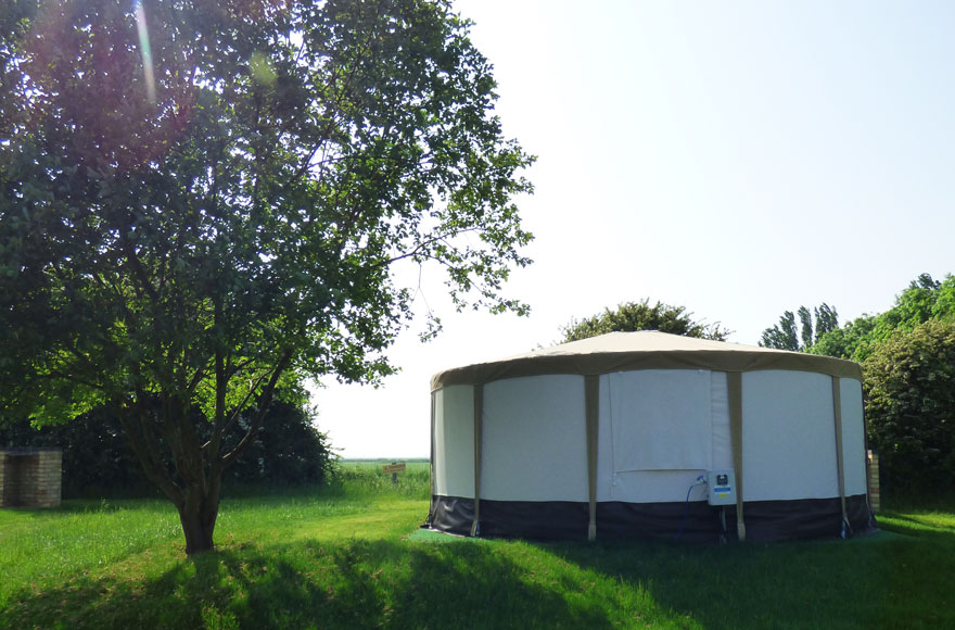 Enjoy beautiful surroundings and breathtaking views from your yurt at our Daleacres site