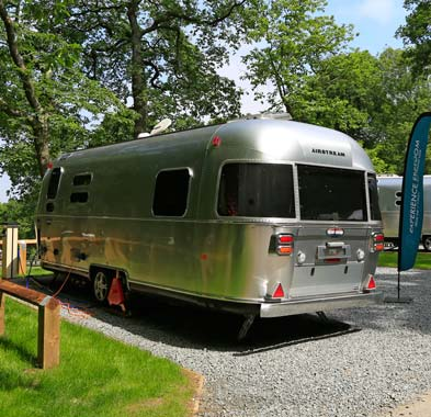 Experience Freedom classic silver airstream caravan