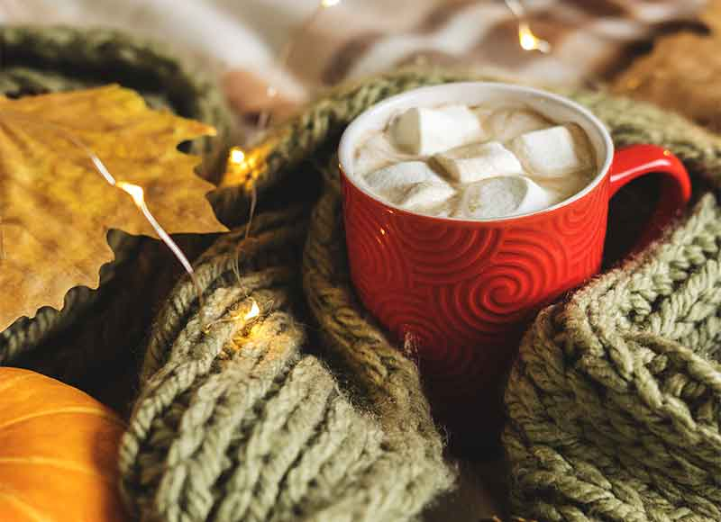 Get cosy with a nice hot drink and thermals