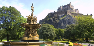 The Ross Fountain in Princes Street Gardens