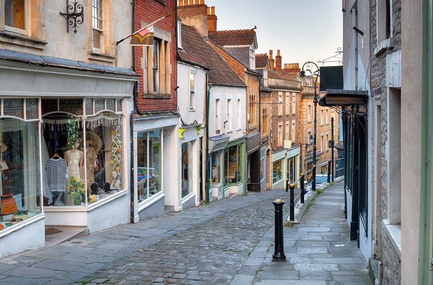 Visit the market town of Frome, just 15 minutes from site