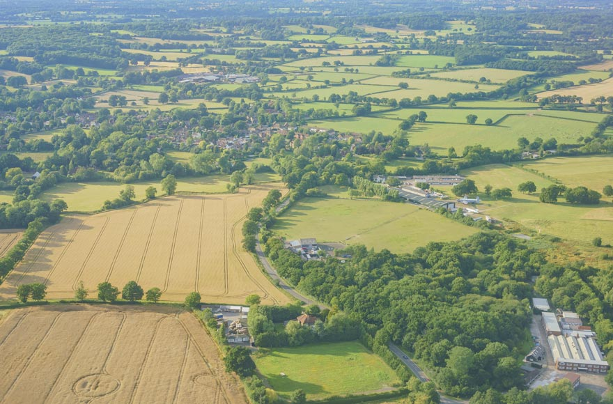 Aerial views over Sussex