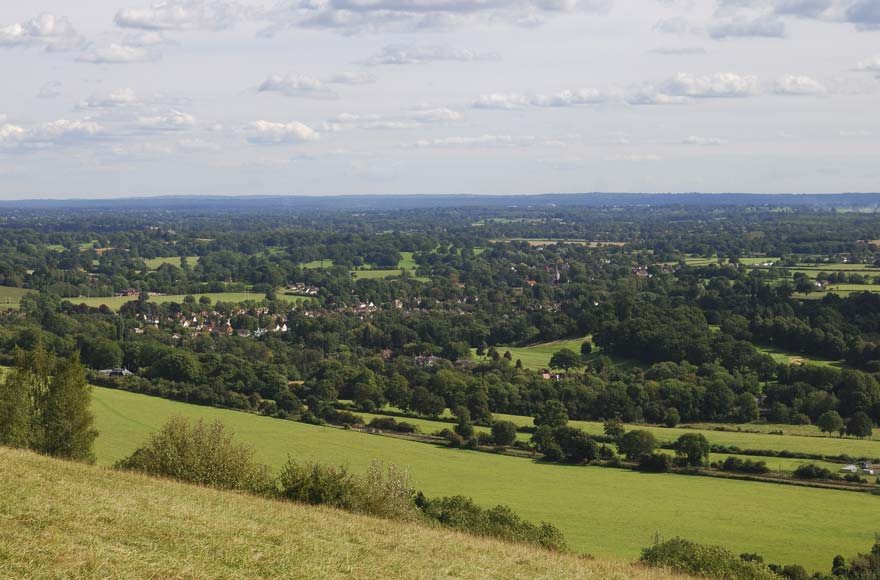 Views over Box Hill