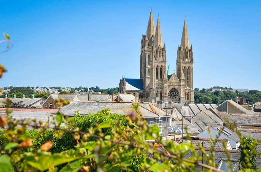 Cathedral in Truro, 25 minutes from site