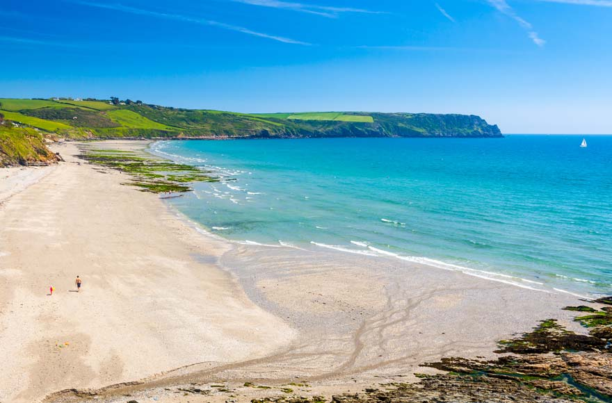 Visit the stunning Pendower Beach on the Roseland peninsula