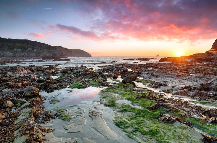 Visit Trevellas Coombe beach in St Agnes, 15 minutes from site