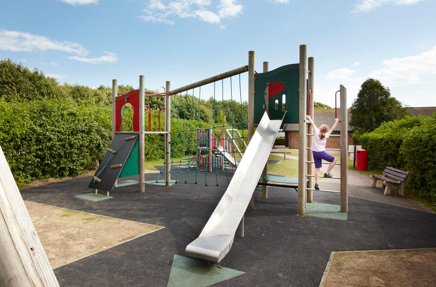 Kids will love the on-site playground