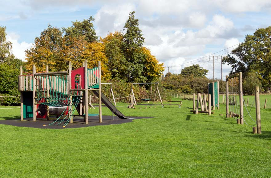 Take the kids to the on-site playground to let off some steam