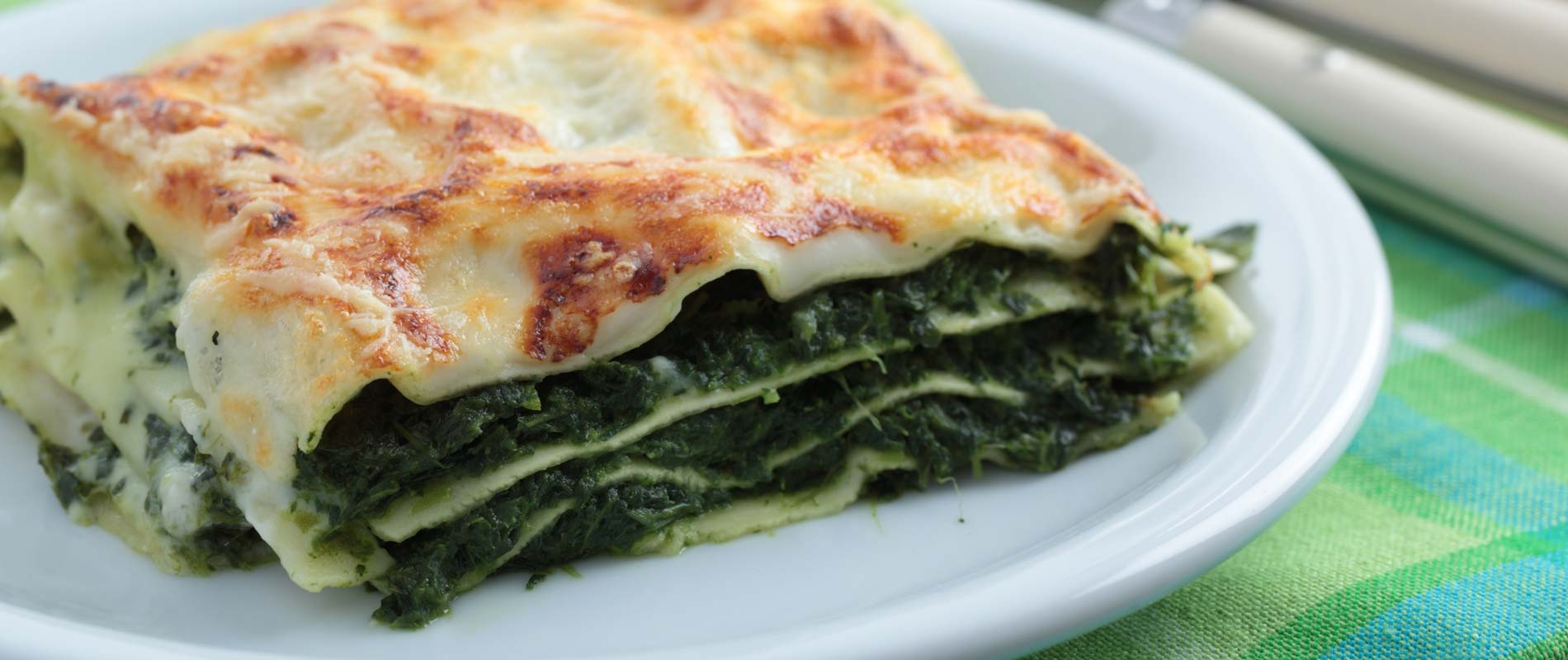 Enjoy a tasty spinach lasagne