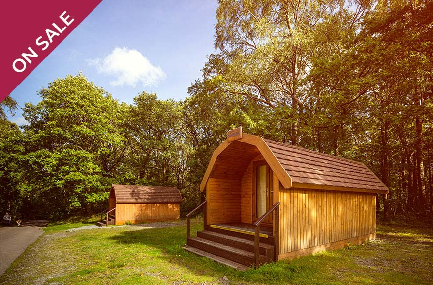 Snuggle up in a cosy camping pod