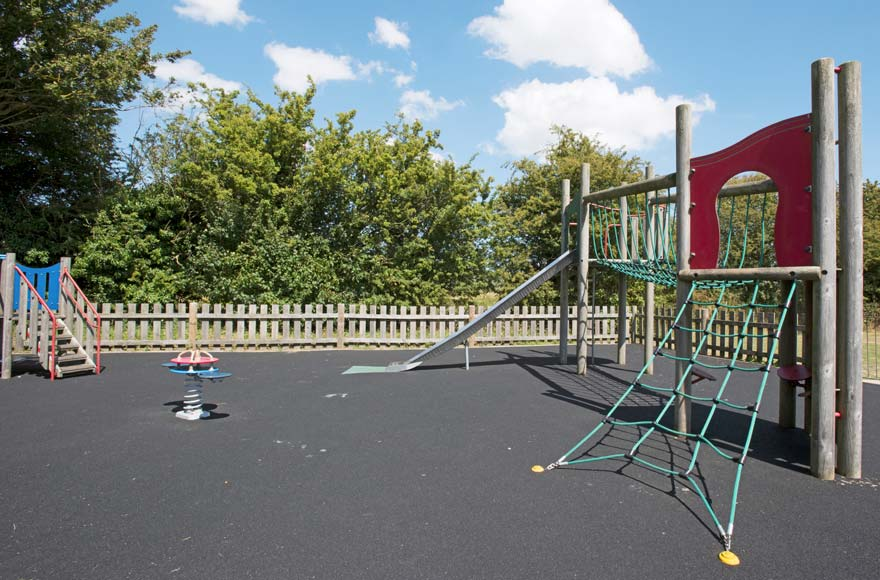 Kids can let off some steam in the on-site playground