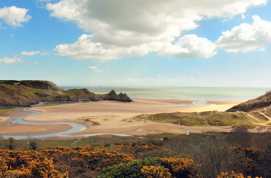Three Cliffs Bay on Gower Peninsula