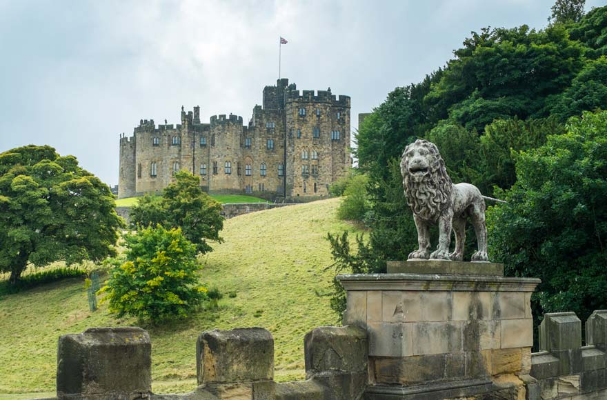 Enjoy the view of Alnwick Castle