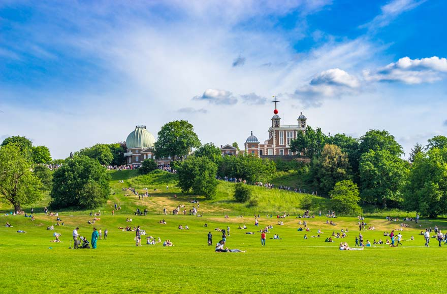 Greenwich park is around 30 minutes from site