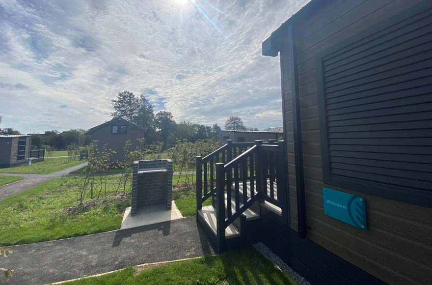 Glamping pods and cabins at Cayton Village glamping site